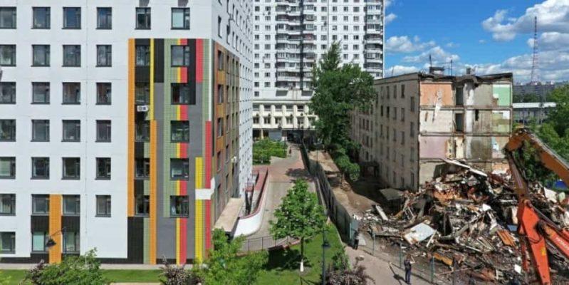 Снос пятиэтажек в Москве 2018/2019 годах
