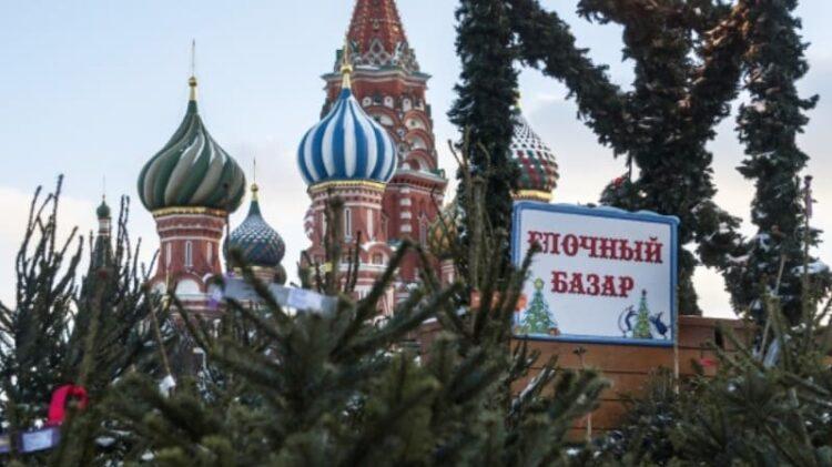 Елочный базар в Москве